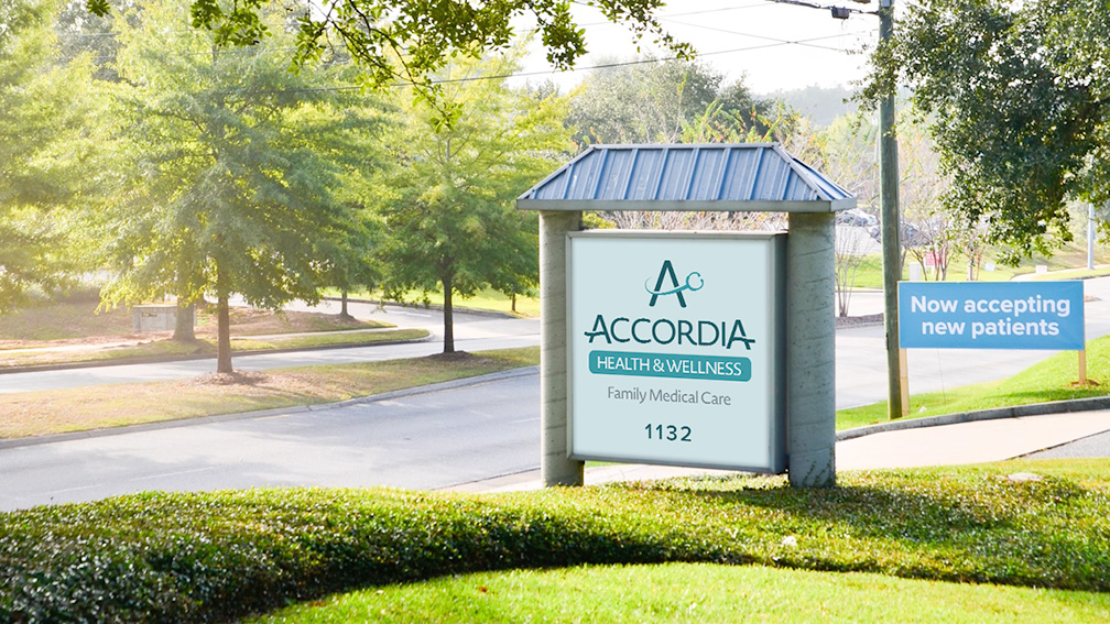 Accordia Health & Wellness Entrance Sign