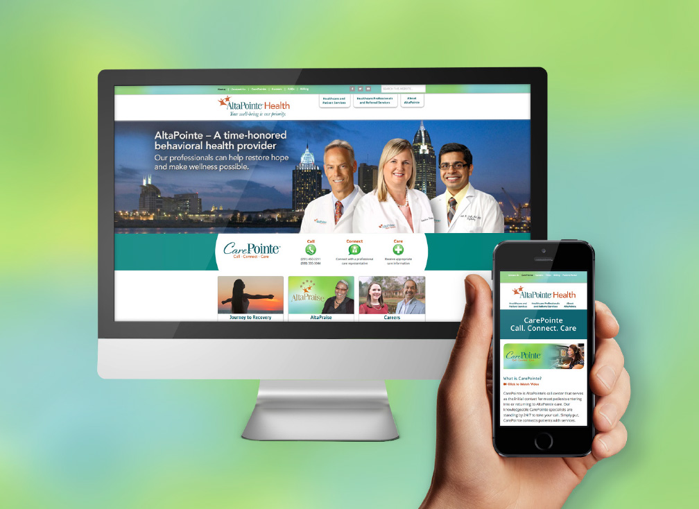 AltaPointe Health website smartphone