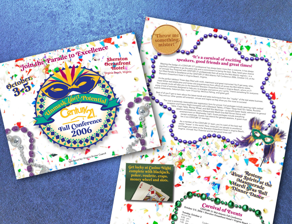 Century 21 Conference Mailer - Mardi Gras