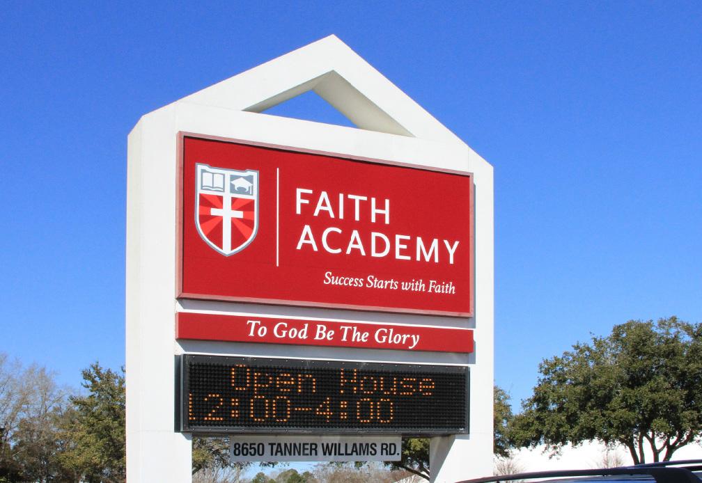 Faith Academy Road Sign