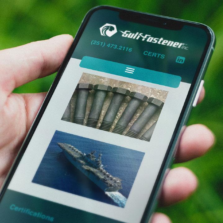 Gulf Fastener mobile site