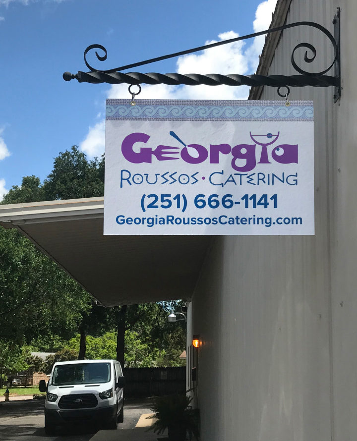 Georgia Roussos Catering sign