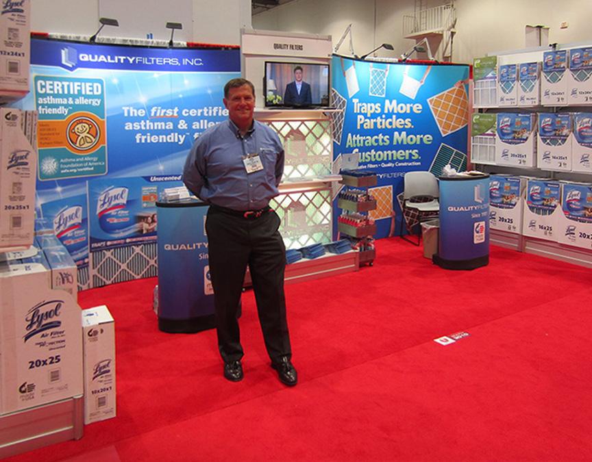 Lysol Air Filter Tradeshow Display