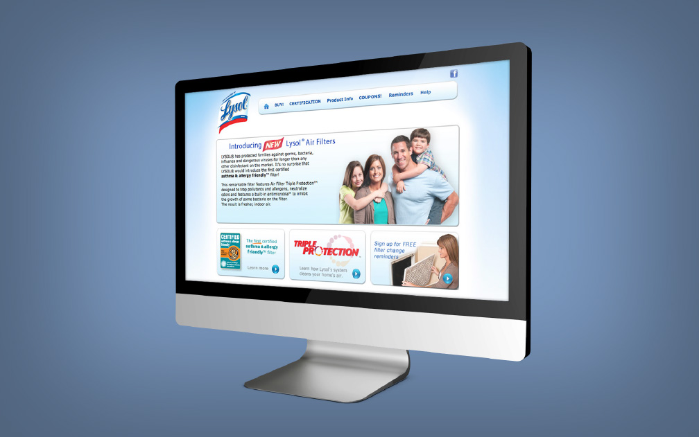 Lysol® Air Filters Website