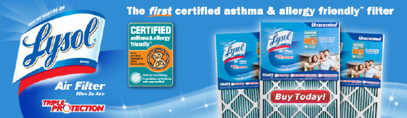 Lysol® Air Filters web banner ad