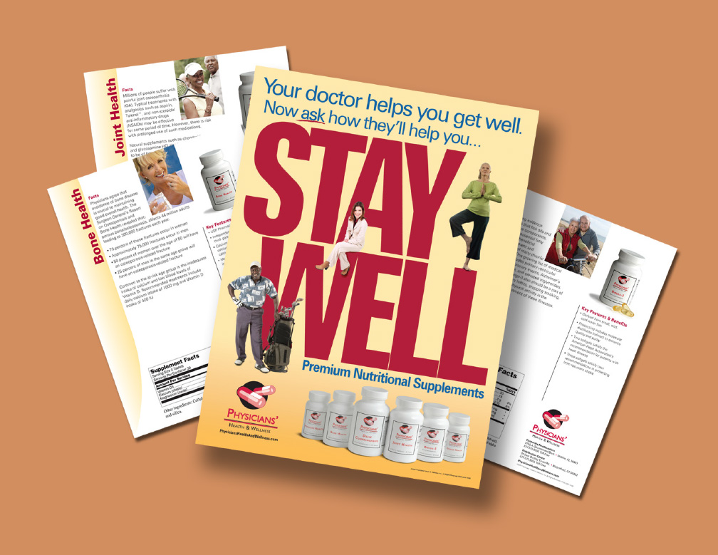 Physicians Health and Wellness Poster and Sales Sheets