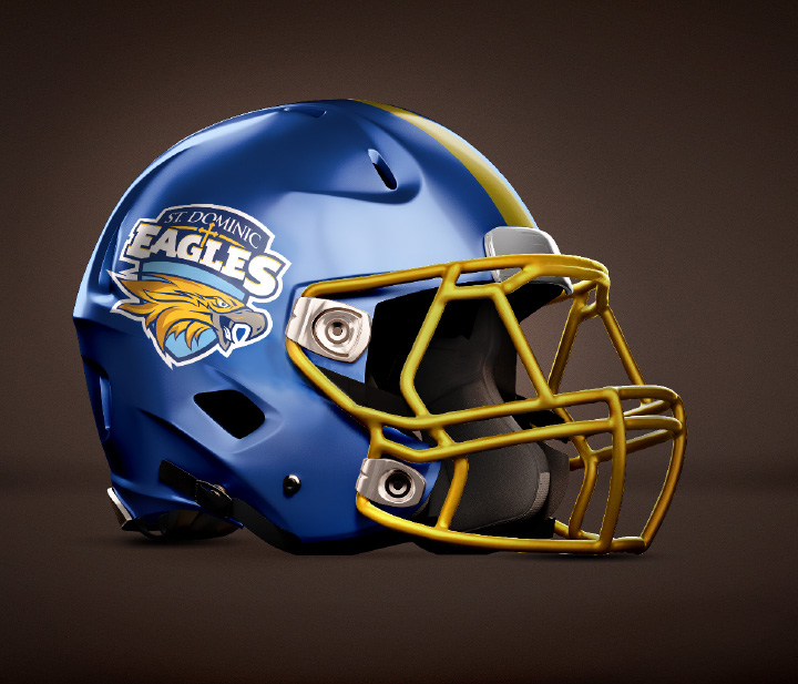 St. Dominic Football Helmet