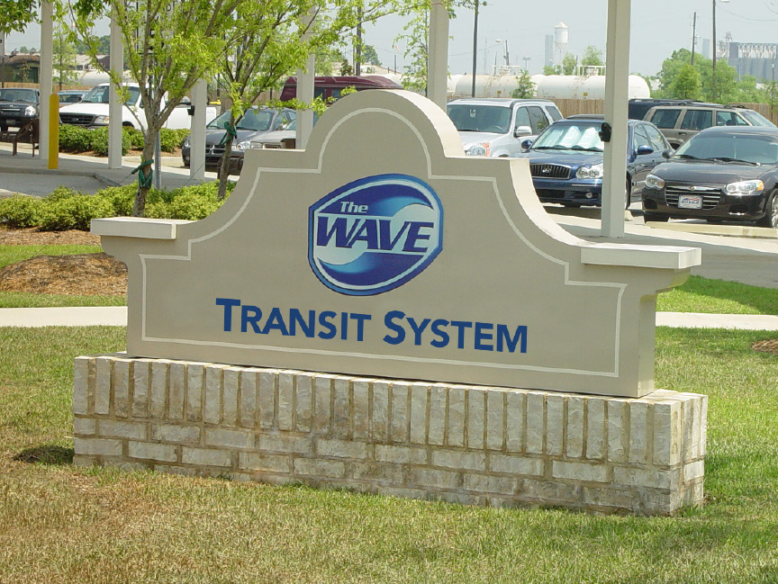 The Wave Transit Headquarters Sign