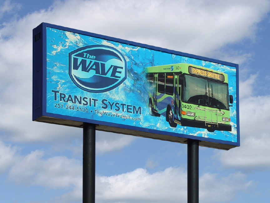 The Wave Transit Road Sign