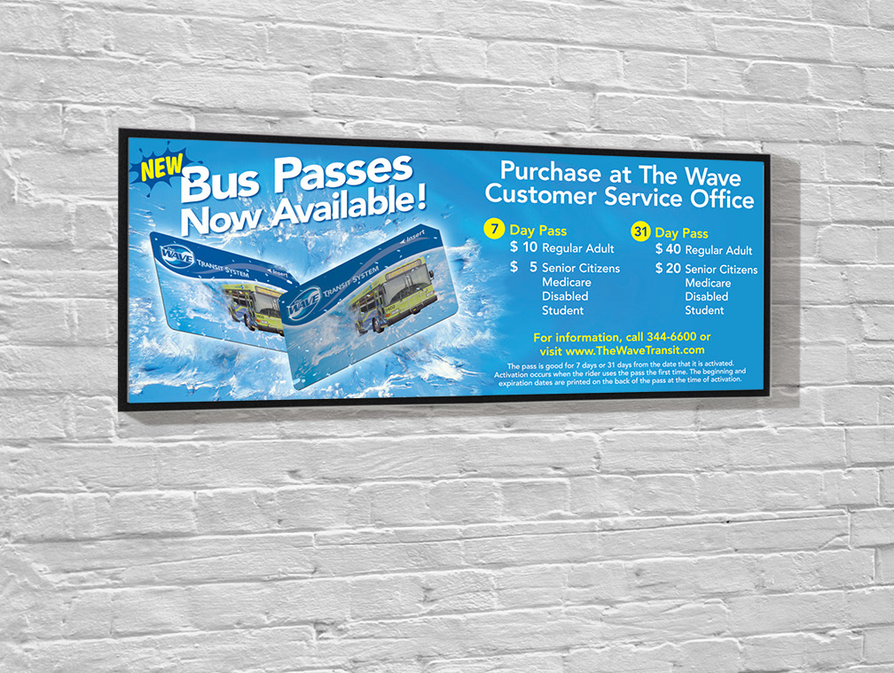 Wave Transit Bus Passes Poster