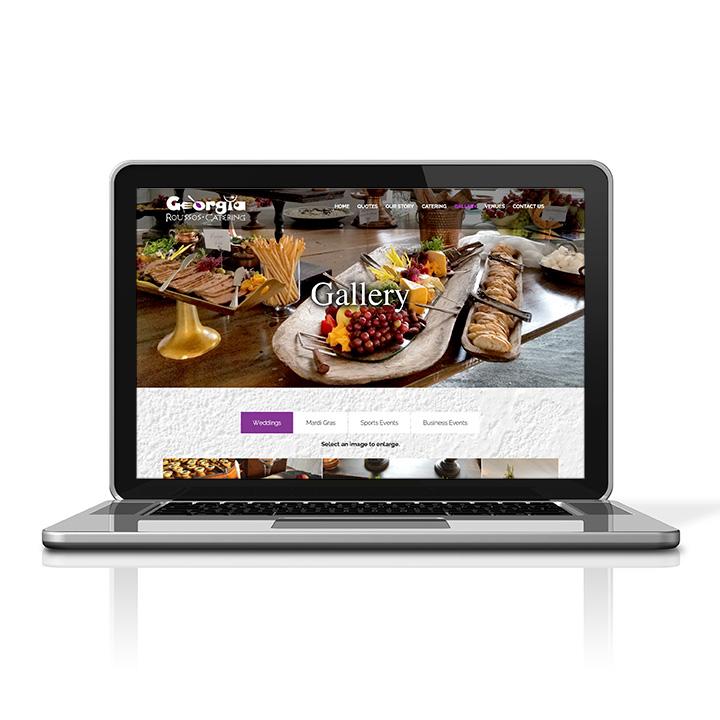Georgia Roussos Catering laptop - displaying gallery