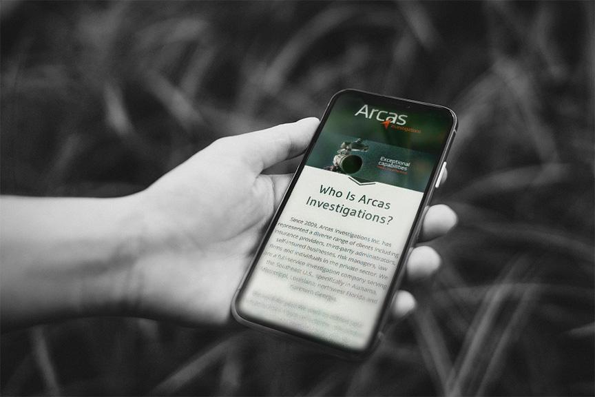 Arcas Investigations smartphone