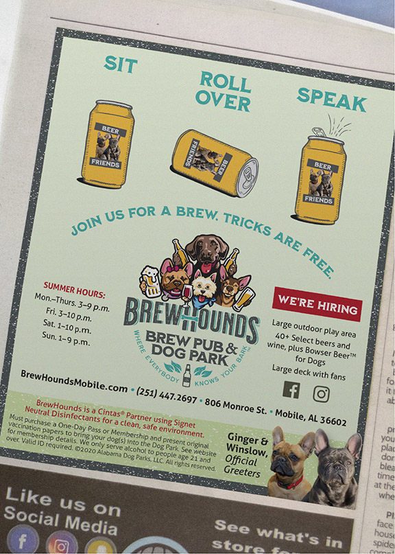 BrewHounds - Beer Can Dog Tricks Ad