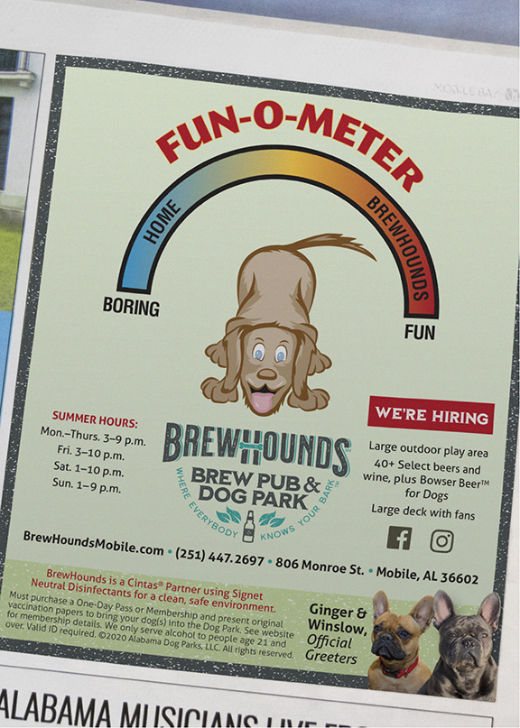 BrewHounds - Fun-o-meter ad