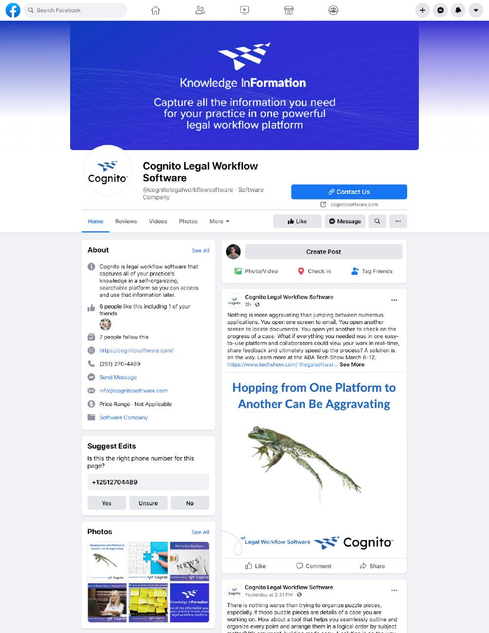 Cognito FaceBook Page