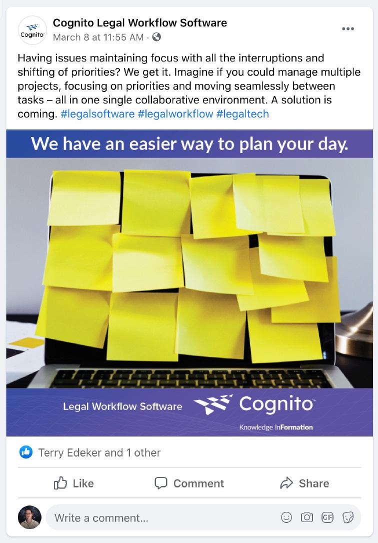 Cognito social media post - Planning